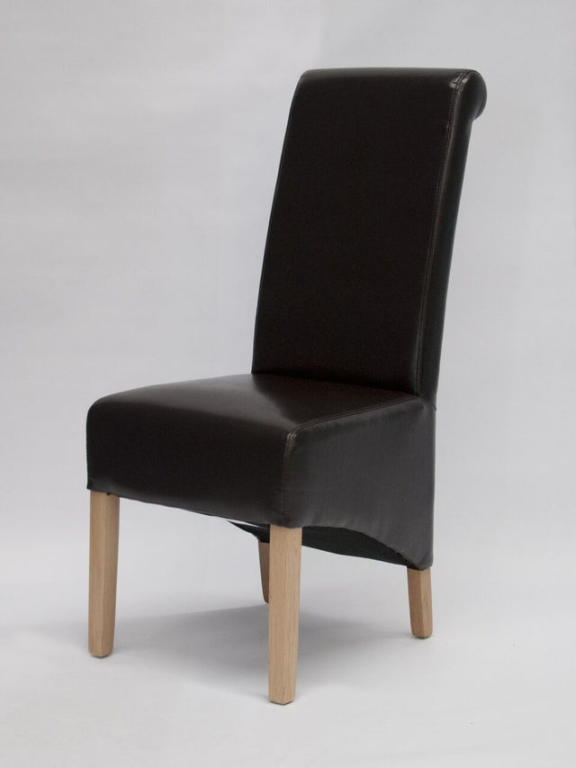 Richmond Brown Leather Wave Back Chair
