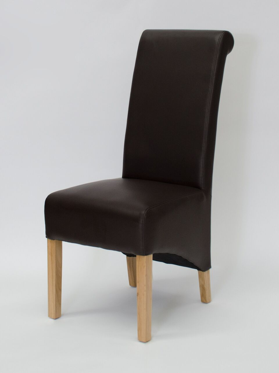 Richmond Choco Matt Leather Wave Back Chair