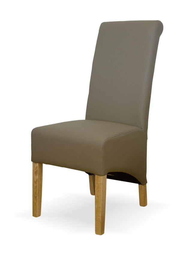 Richmond Mushroom Matt Leather Chair