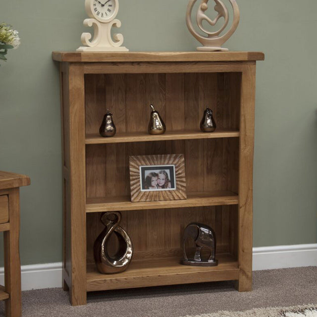 Rustic Oak Small Bookcase