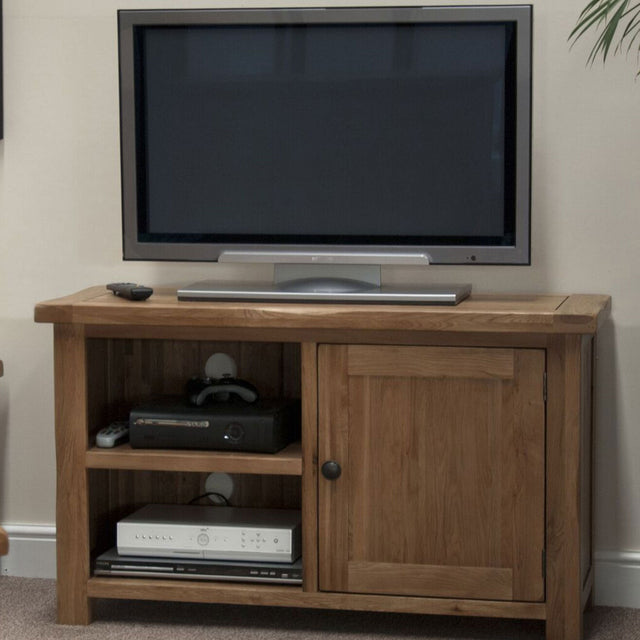 Rustic Oak Tv Cabinet