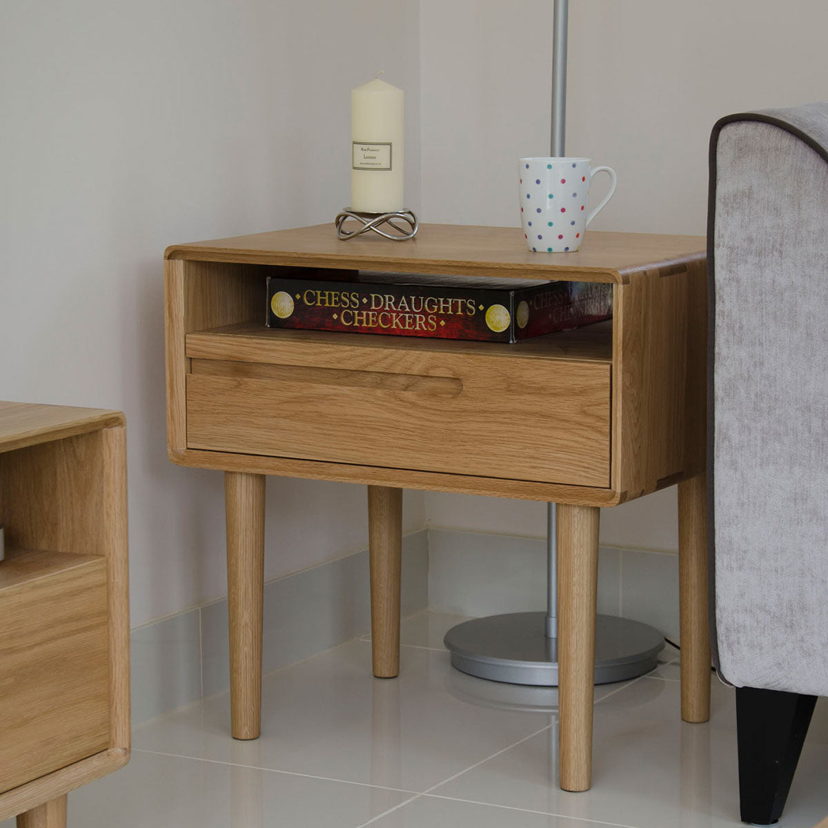Scandic Oak Lamp Table