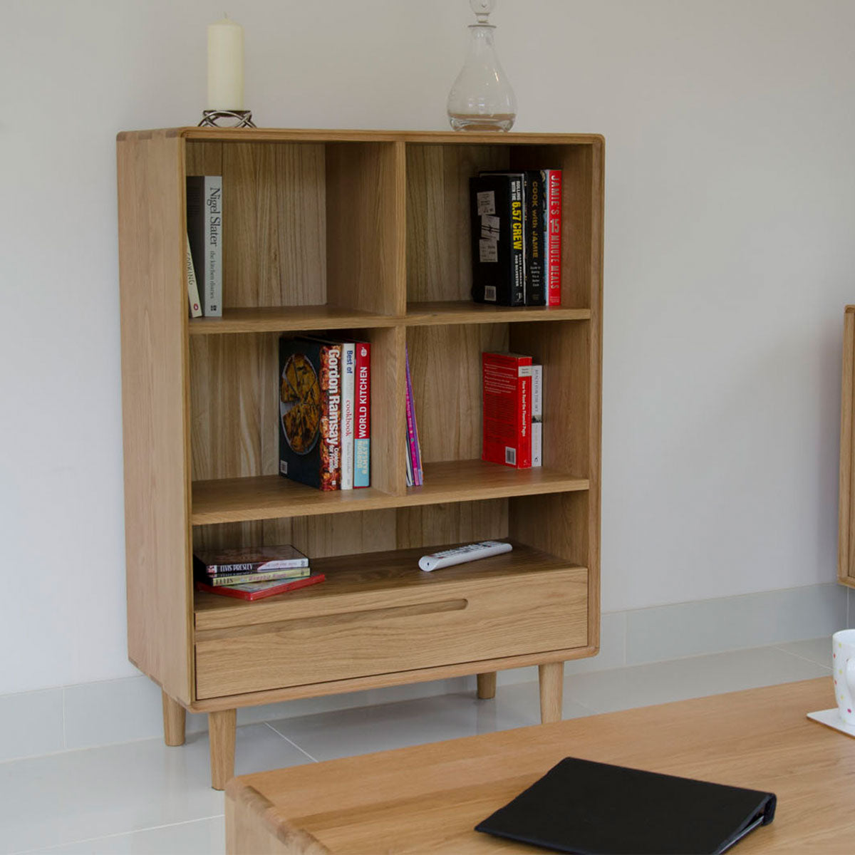 Scandic Oak Small Bookcase