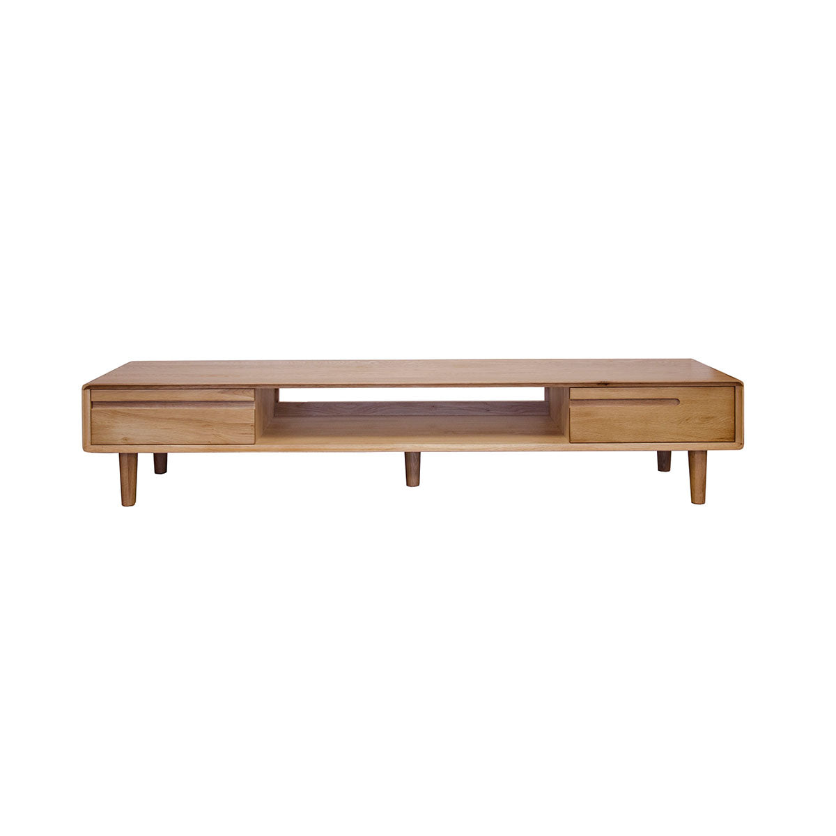 Scandic Oak Wide TV Unit