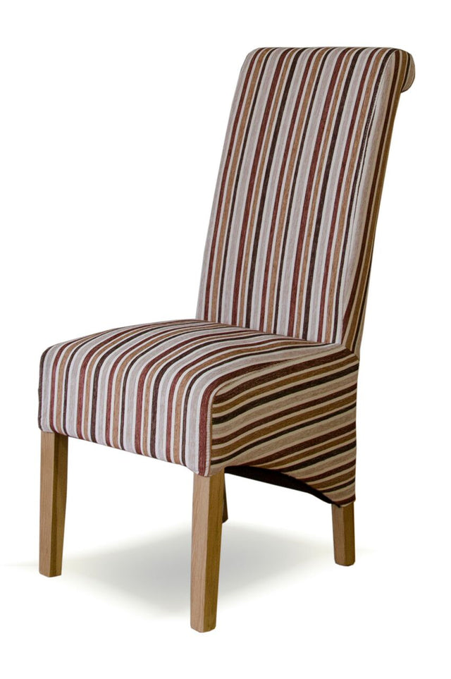 Richmond Striped Fabric Royale Wave Back Chair