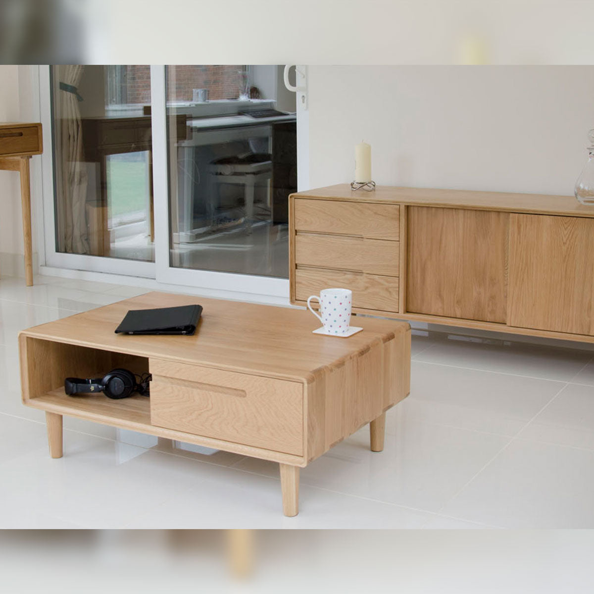 Scandic Oak Large Sideboard