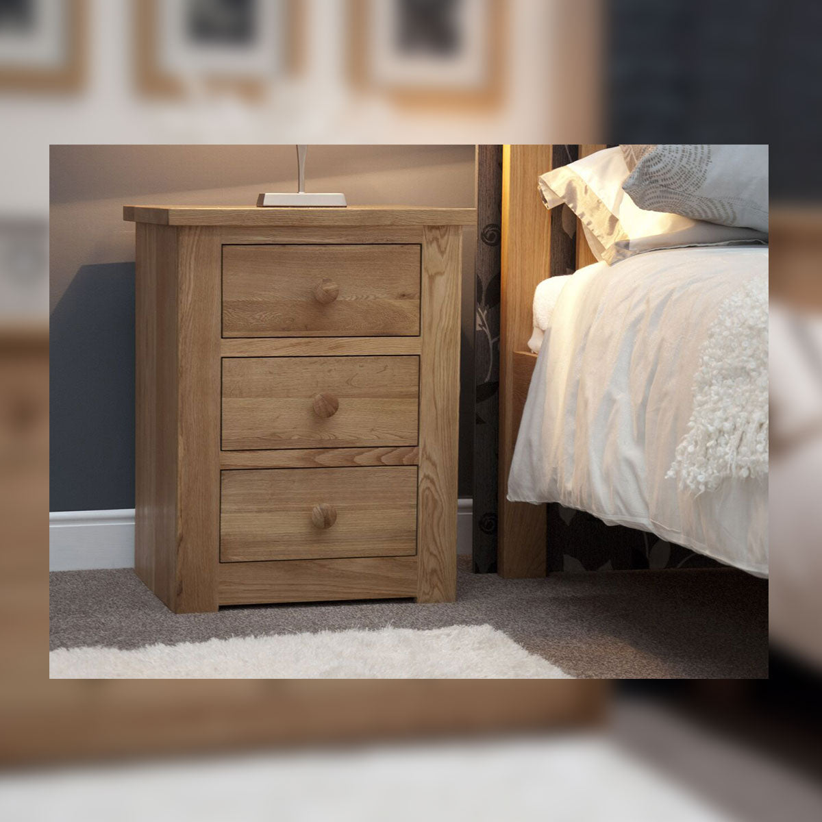 Valencia Deluxe 3 Drawer Bedside