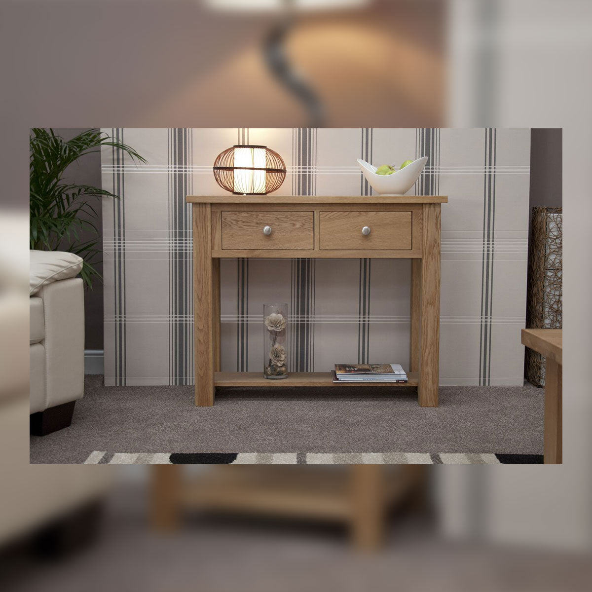 Valencia Deluxe Oak Console Table