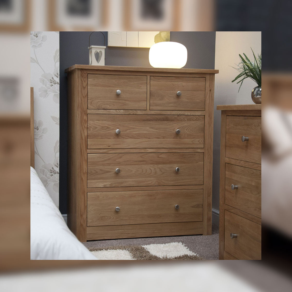 Valencia Deluxe Oak 2 Over 3 Extra Wide Chest