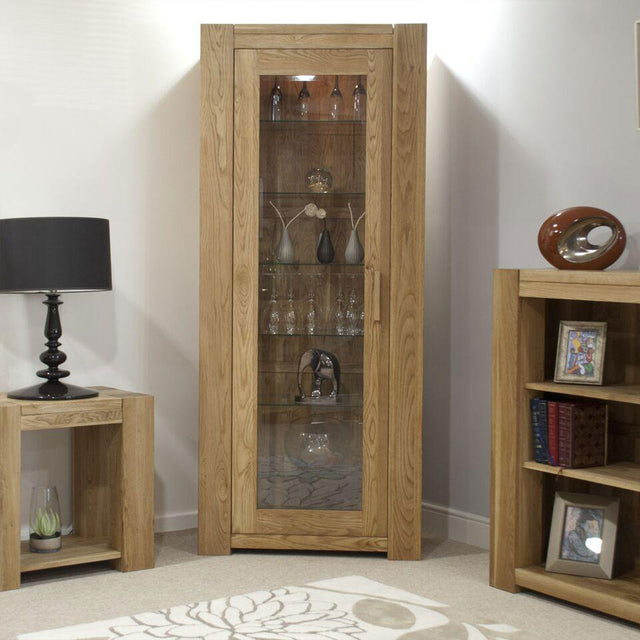 Barcelona Oak  1 Door Bookcase