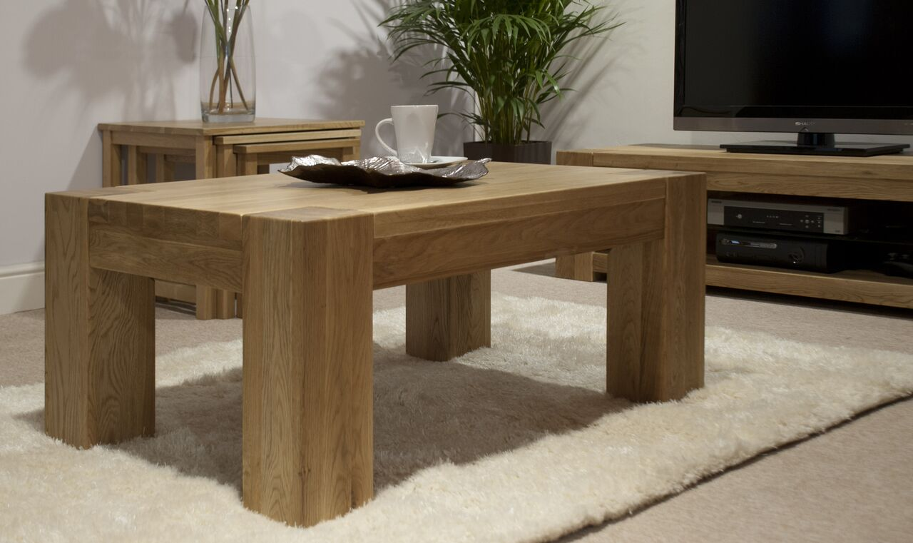 Barcelona Oak  4x2 Coffee Table