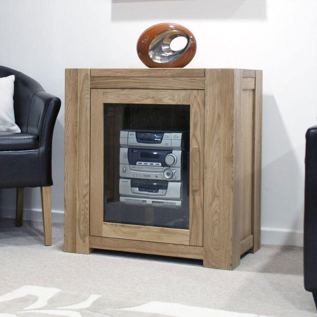 Barcelona Oak Entertainment Unit