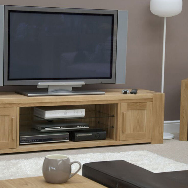 Barcelona Oak Large Plasma TV Unit