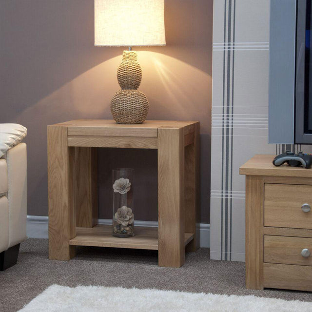 Barcelona Oak Lamp Table