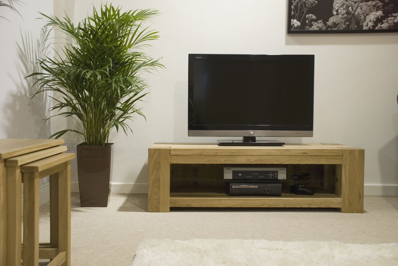 Barcelona Oak Plasma TV Unit