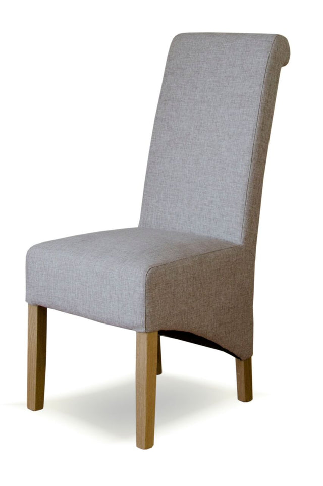 Tweed Beige Wave Back Chair