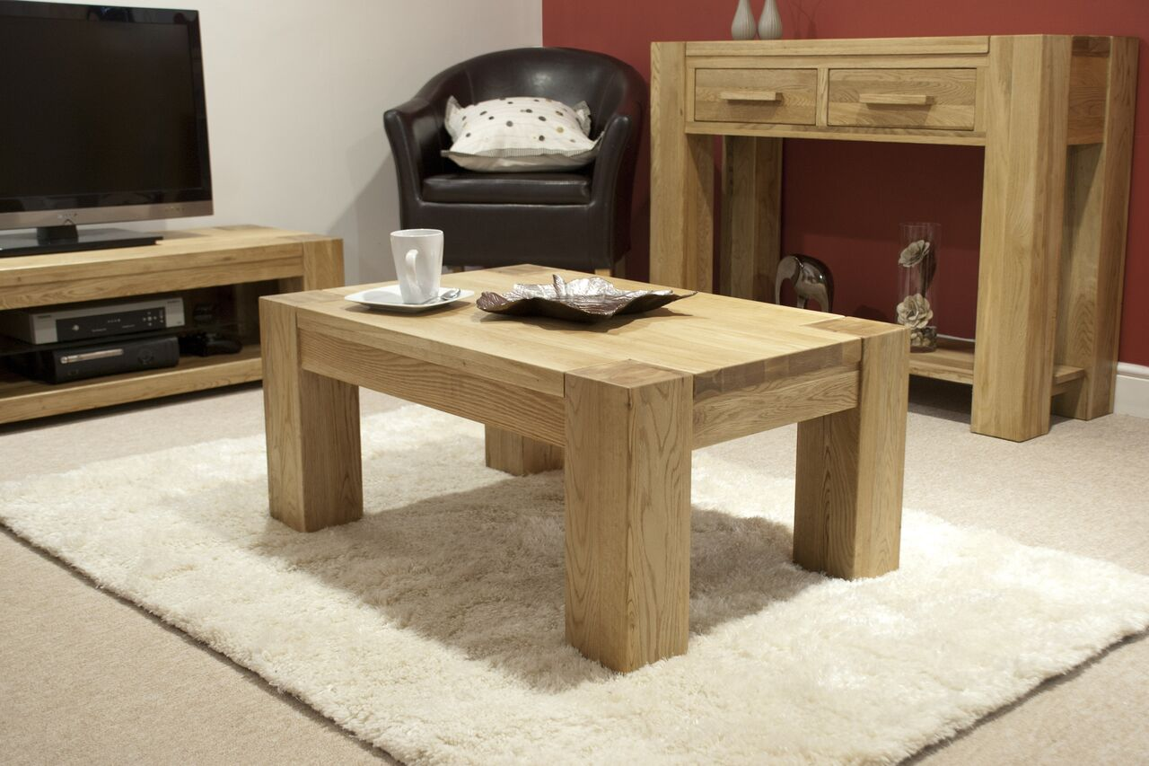 Barcelona Oak 3x2 Coffee Table