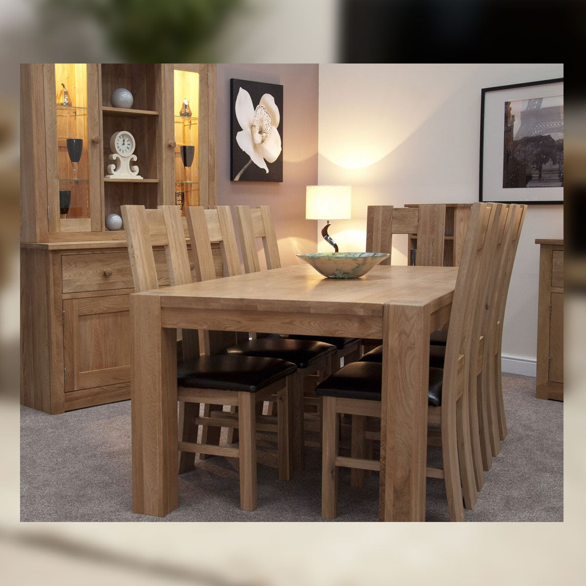 Barcelona Oak Chunky 6FT x 3FT Oak Table