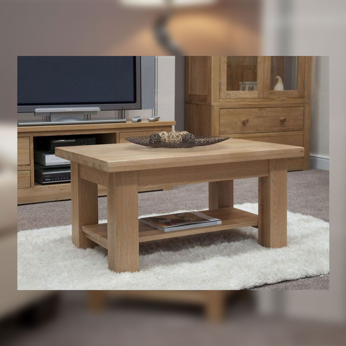 Valencia Deluxe Oak 3 x 2 Coffee Table