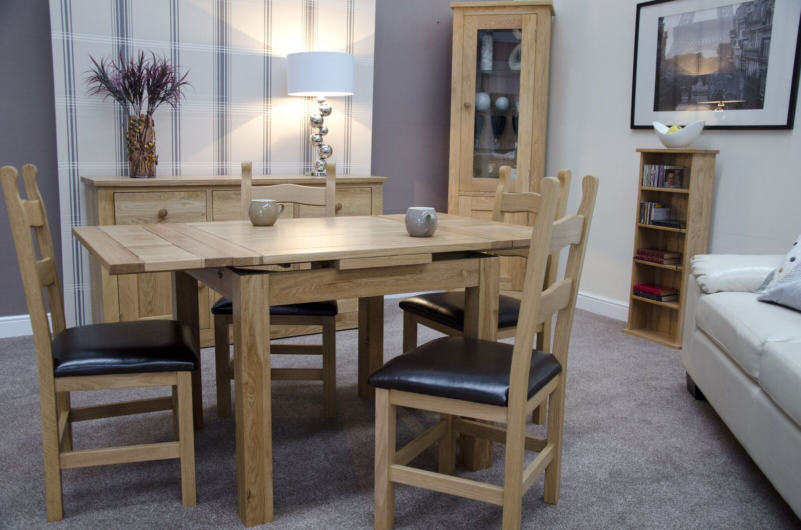 Florence Oak Small Draw Leaf Table