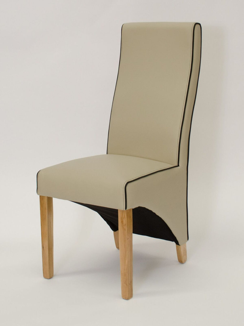 Wave Noir/Bone Contrast piping Dining Chair