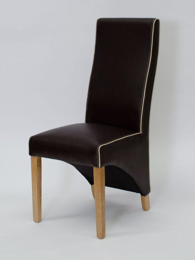Wave Coco/Bone Contrast piping Dining Chair