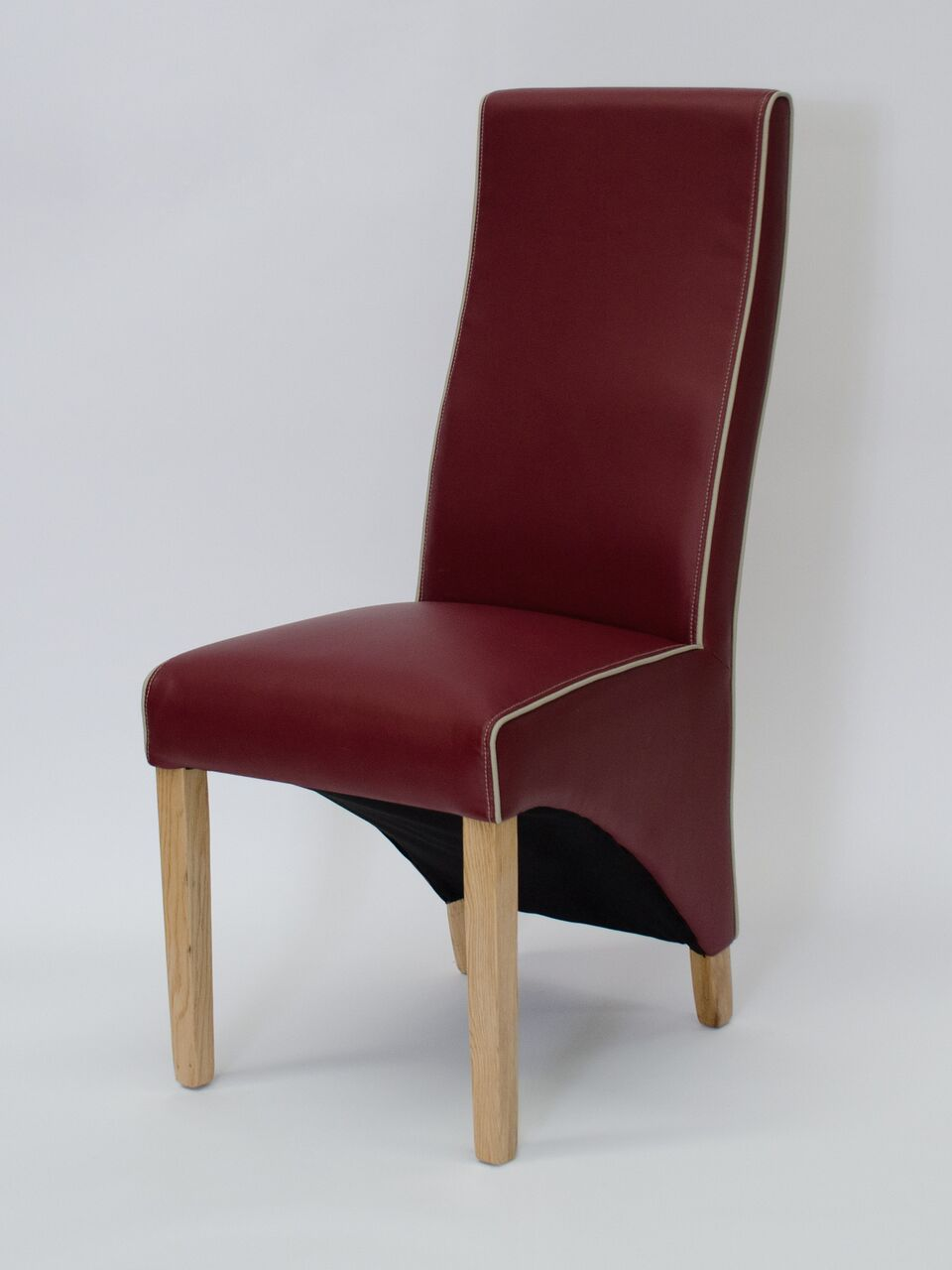 Wave Ruby/Bone Contrast piping Dining Chair