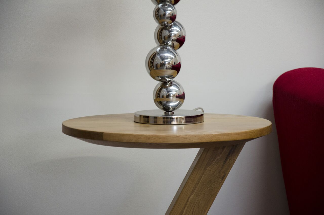 Zenith Oak Modern Lamp Table