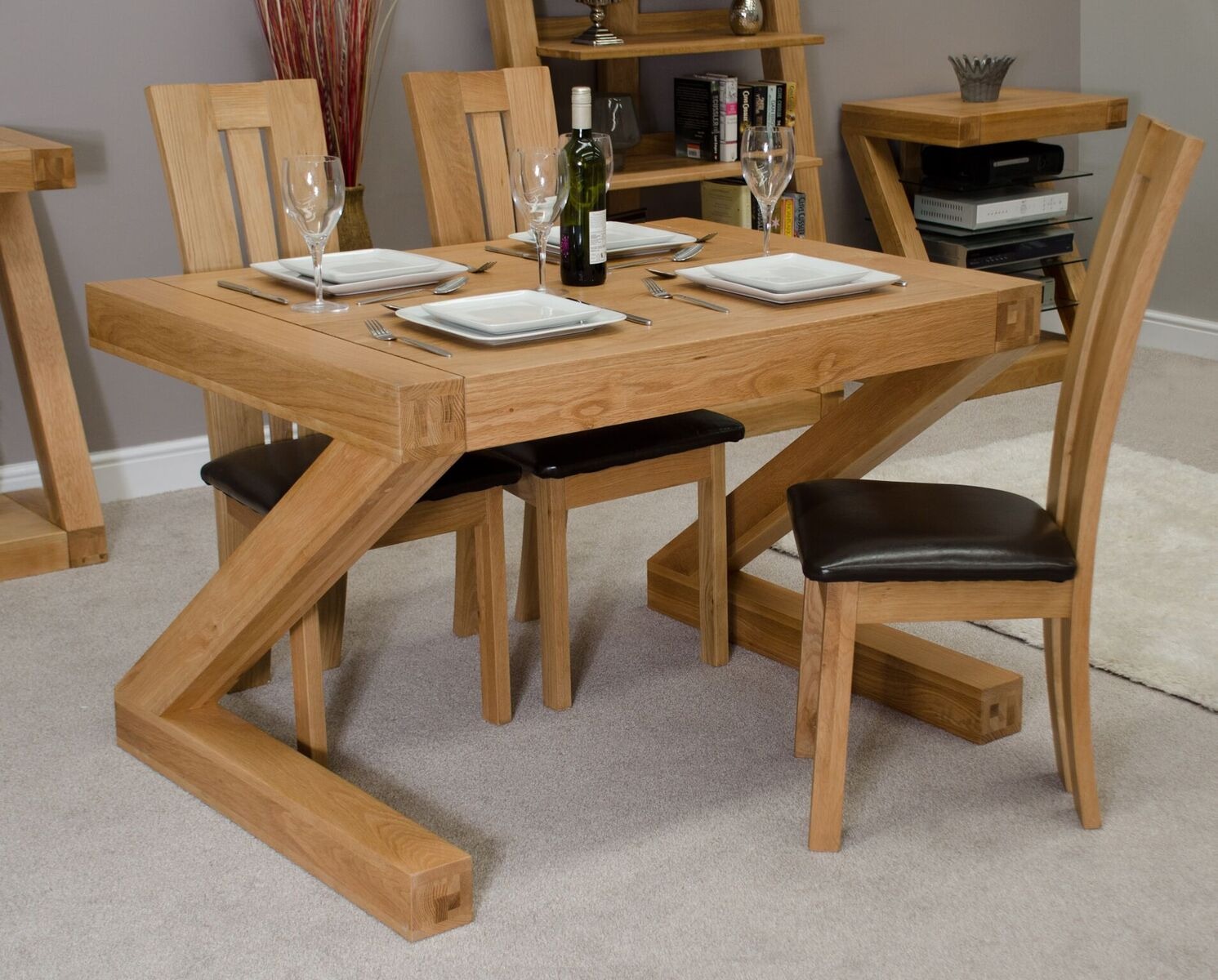 Zenith Oak 4x3 Dining Table