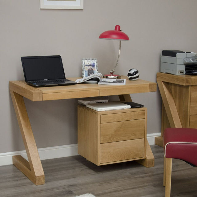 Zenith Oak Small Computer Desk