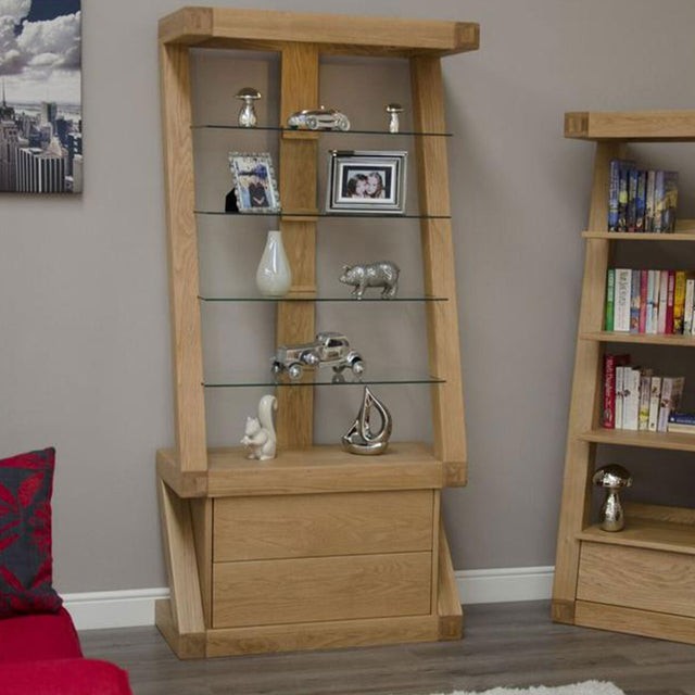 Zenith Oak Display Cabinet