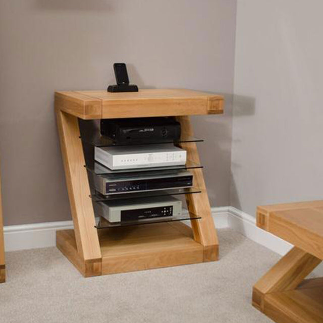 Zenith Oak Hi Fi And Media Unit