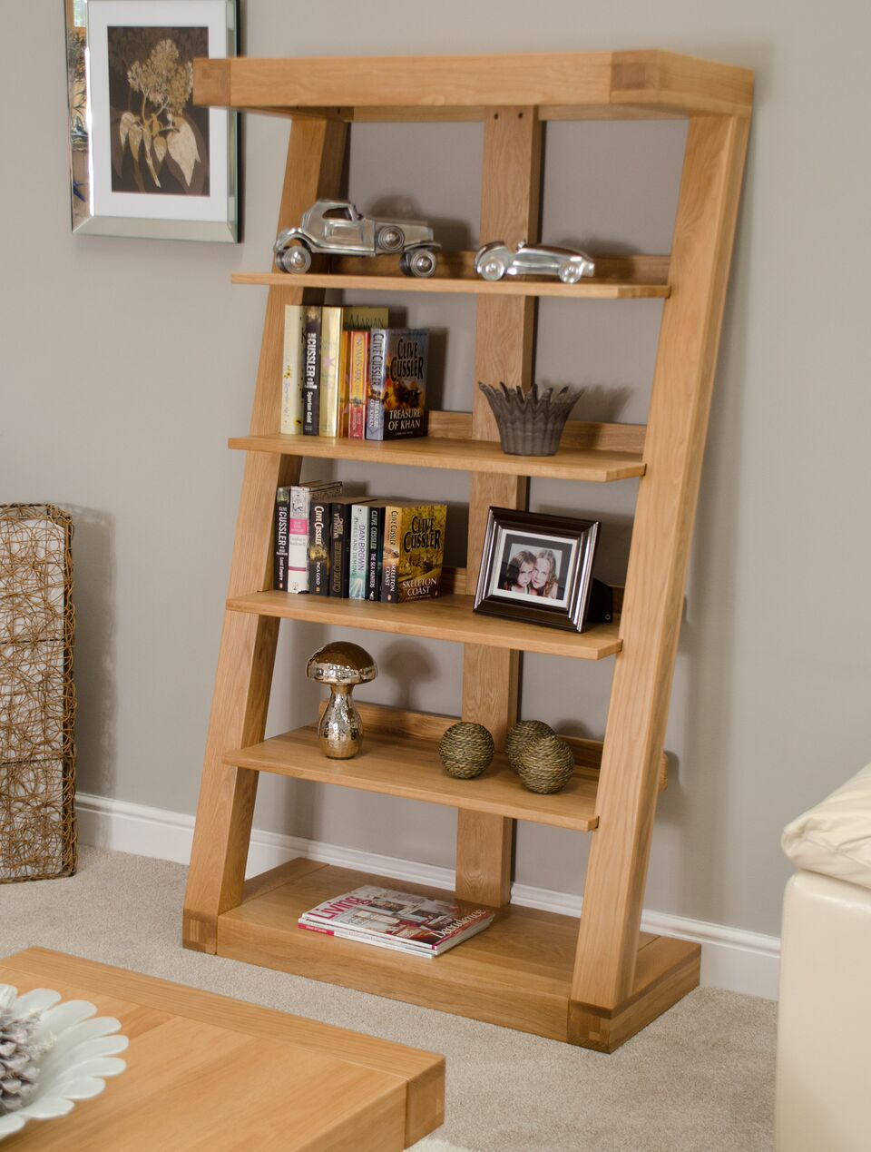 Zenith Oak Large Bookcase
