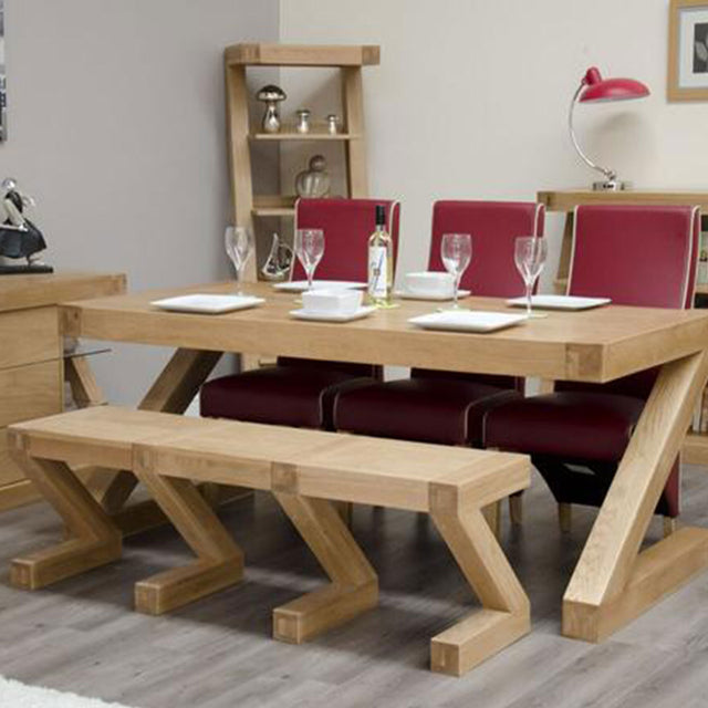 Zenith Oak Large Dining Bench