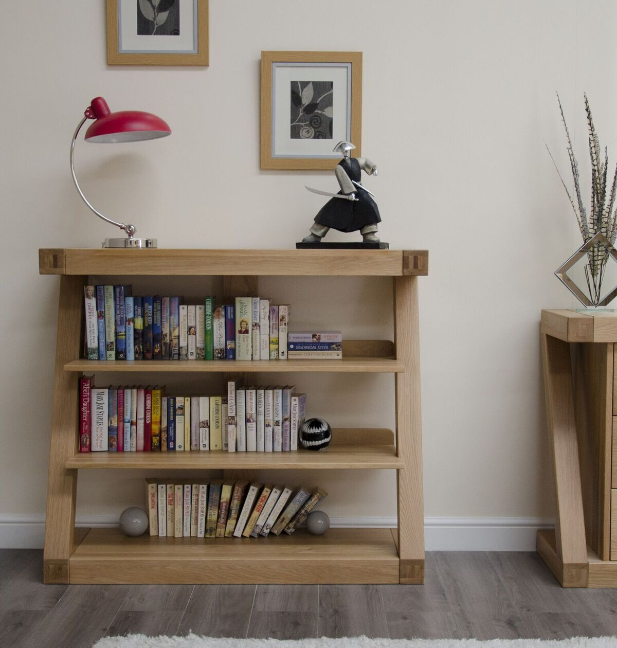Zenith Oak Small Bookcase