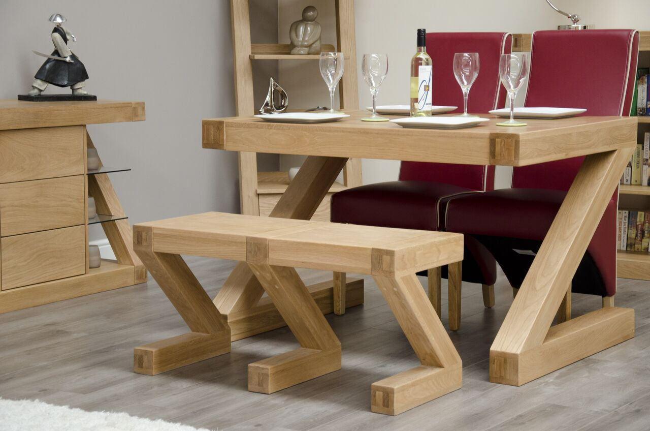 Zenith Oak Small Dining  Bench