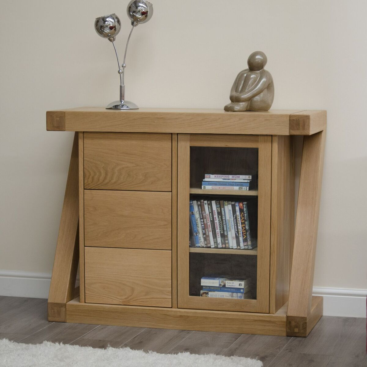 Zenith Oak Small Glazed Sideboard