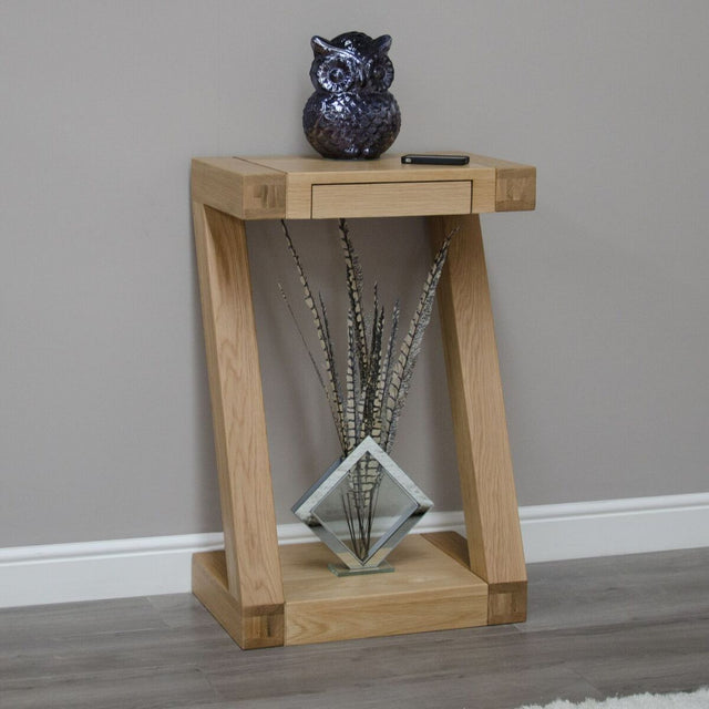Zenith Oak Small Console Table