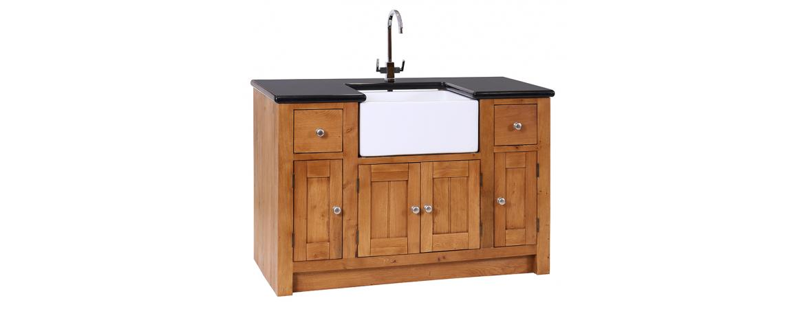 Sink Unit with 4 Doors & 2 Drawers (NO GRANITE TOP)