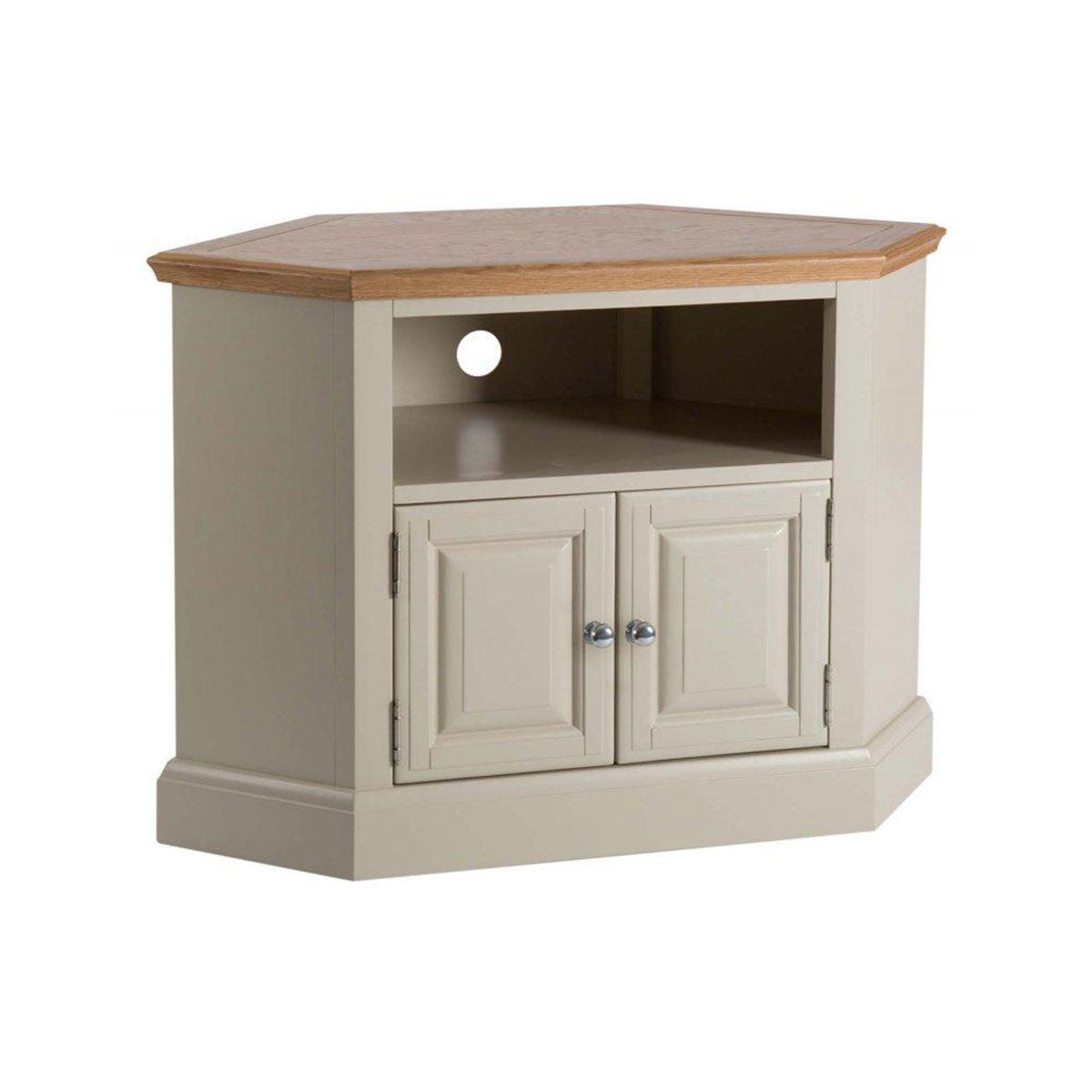 Turin Painted Oak Corner TV Unit