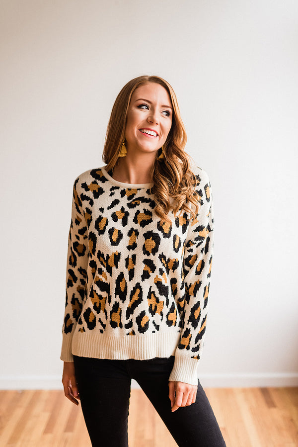 Peek a Boo Leopard Sweater