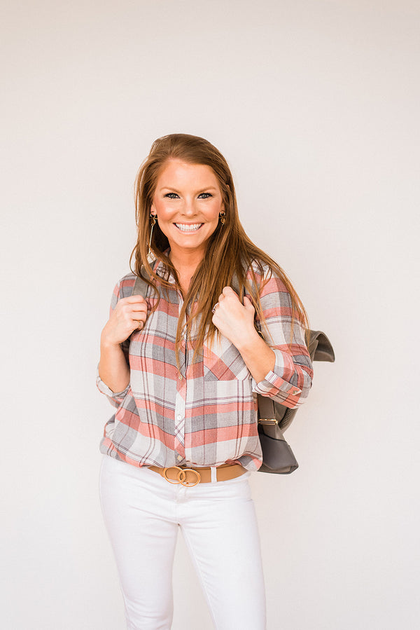 Auburn Plaid Top