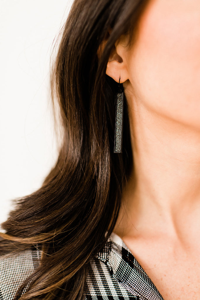 Simple Black Earrings