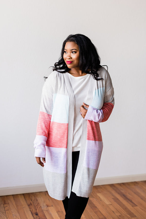 Multi Color Stripped Cardigan