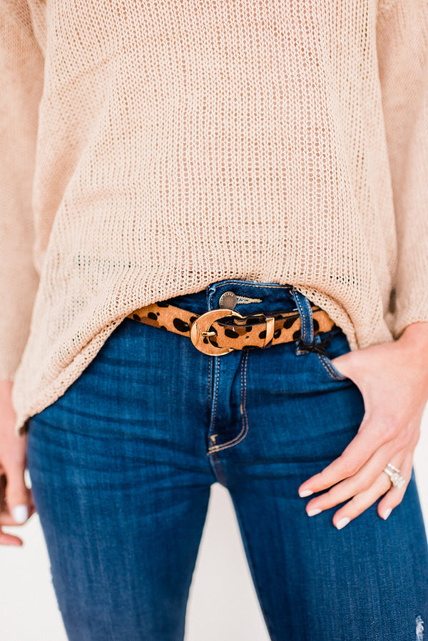Thin Leopard Belt