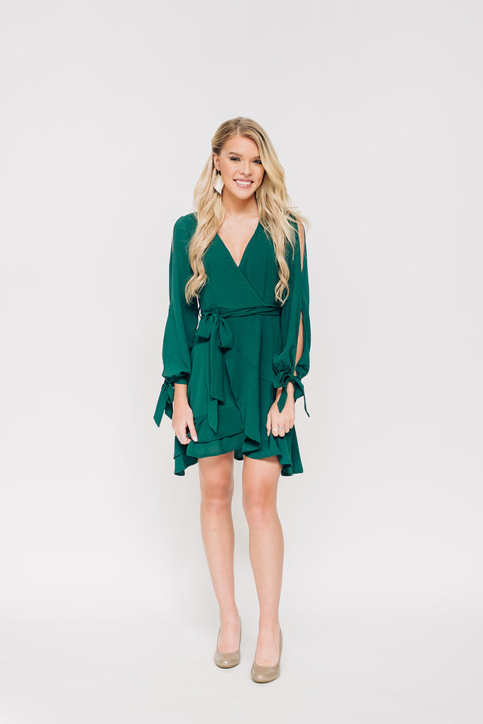Sea Green Long Sleeve Dress