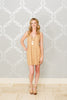 Camel Suede Mini Dress