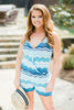 Coastal Blues Capri Romper