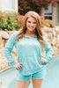 Jesus Juice Aquamarine Side Tie Hoody