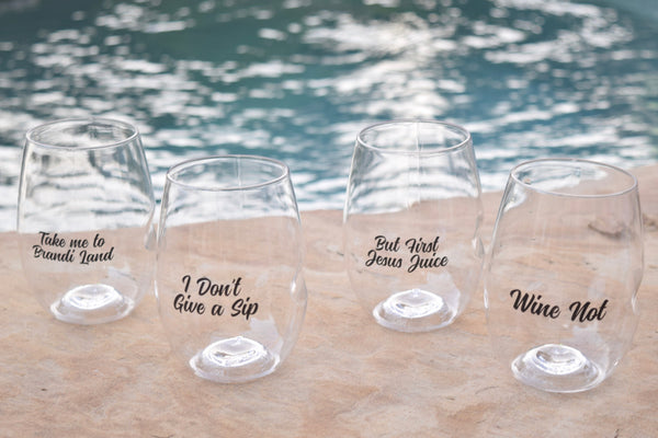 Brandi Land Wine Glasses - 4 Pack